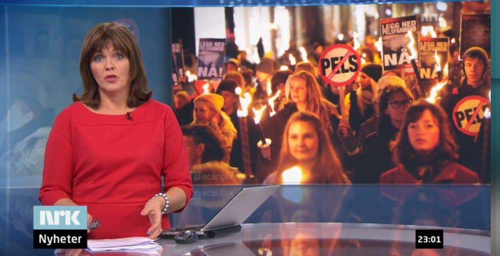 Norwegians protest against fur