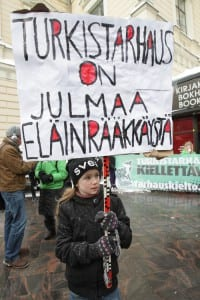 International demonstration Fur Farm Free Finland