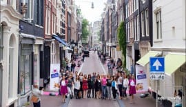 Fur-free shopping street in Amsterdam