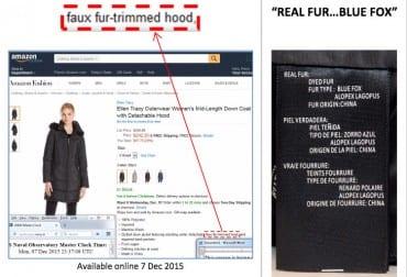 amazon faux fur false advertising