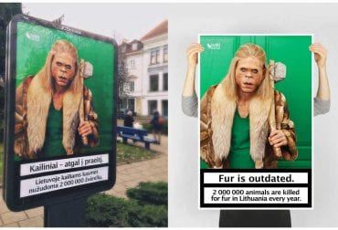 Poster campaign Fur is Outdated