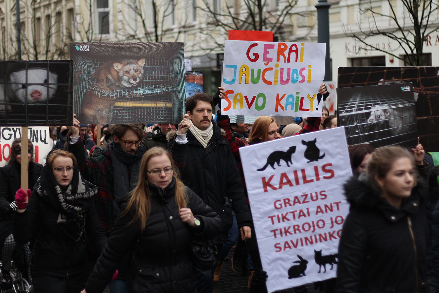 March against fur in Lithuania